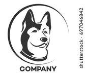 husky dog logo | Shutterstock .eps vector #697046842