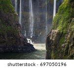 view of the zambezi and... | Shutterstock . vector #697050196