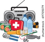 emergency survival preparedness ... | Shutterstock .eps vector #69705079