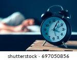 sleeping disorder or insomnia... | Shutterstock . vector #697050856