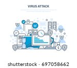 virus attack concept.... | Shutterstock .eps vector #697058662
