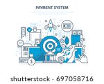 payment system concept. methods ... | Shutterstock .eps vector #697058716