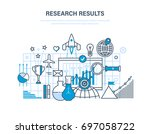 research results concept.... | Shutterstock .eps vector #697058722
