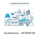 planning application....   Shutterstock .eps vector #697058758