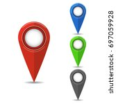 gps location symbol. vector...