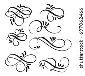 art calligraphy flourish of...