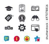 graduation icons. graduation...