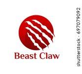 beast claw logo template...   Shutterstock .eps vector #697079092