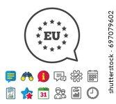 european union icon. eu stars... | Shutterstock .eps vector #697079602