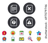 file attention icons. document... | Shutterstock .eps vector #697079746