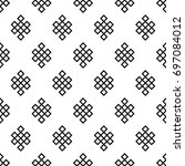 seamless pattern of the endless ... | Shutterstock .eps vector #697084012