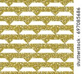 gold glitter background. golden ... | Shutterstock .eps vector #697085686