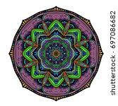 oriental stylized ornament...   Shutterstock .eps vector #697086682