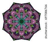 oriental stylized ornament...   Shutterstock .eps vector #697086766