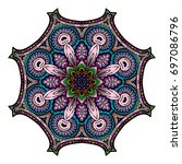 oriental stylized ornament...   Shutterstock .eps vector #697086796