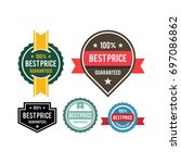 set of vintage best price badge ... | Shutterstock .eps vector #697086862