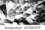multifaceted geometric...   Shutterstock . vector #697087075
