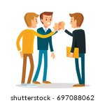business colleges clapping hands | Shutterstock .eps vector #697088062