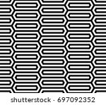 seamless pattern with black... | Shutterstock .eps vector #697092352