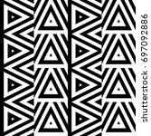 vector seamless pattern.... | Shutterstock .eps vector #697092886