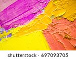 hand drawn oil painting....   Shutterstock . vector #697093705