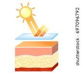 uv protection for sensitive... | Shutterstock .eps vector #697096792