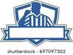 illustration of a referee...   Shutterstock . vector #697097302