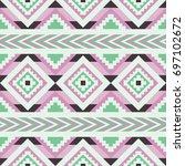 vector seamless ethnic pattern. ... | Shutterstock .eps vector #697102672