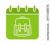 september 1st glyph color icon. ... | Shutterstock .eps vector #697108876