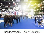 blur event with people... | Shutterstock . vector #697109548