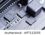 electronic circuit board | Shutterstock . vector #697112035