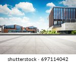 large modern office building | Shutterstock . vector #697114042