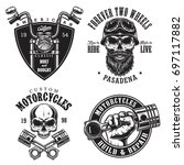 set of vintage custom... | Shutterstock .eps vector #697117882
