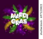 illustration of carnival mardi... | Shutterstock .eps vector #697123822
