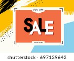 vector design for sale web... | Shutterstock .eps vector #697129642