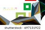 modern triangle presentation... | Shutterstock .eps vector #697131922