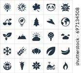 vector illustration set of... | Shutterstock .eps vector #697134508