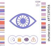 eye symbol | Shutterstock .eps vector #697139356