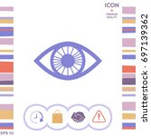 eye symbol with iris | Shutterstock .eps vector #697139362
