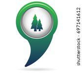 fir trees forest flat icon  | Shutterstock .eps vector #697141612