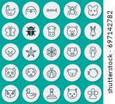 zoology icons set. collection... | Shutterstock .eps vector #697142782