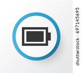 battery icon symbol. premium... | Shutterstock .eps vector #697145695