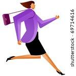 business woman running | Shutterstock .eps vector #69714616