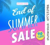 summer sale art. | Shutterstock .eps vector #697151986