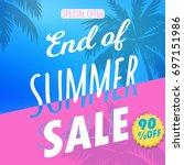 summer sale art. | Shutterstock .eps vector #697151986