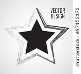 stamps collection. grunge stars ... | Shutterstock .eps vector #697152172