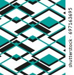 seamless geometric pattern with ... | Shutterstock .eps vector #697163695