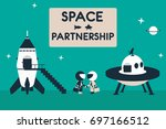 Space Friendship Illustration....