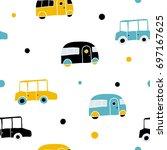 children's vector seamless...   Shutterstock .eps vector #697167625