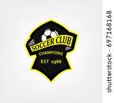 soccer or football logo design  ...   Shutterstock .eps vector #697168168